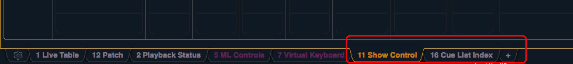 mtc show control tab